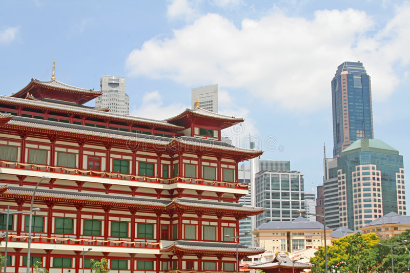 East Meets West Buildings Together royalty free stock images