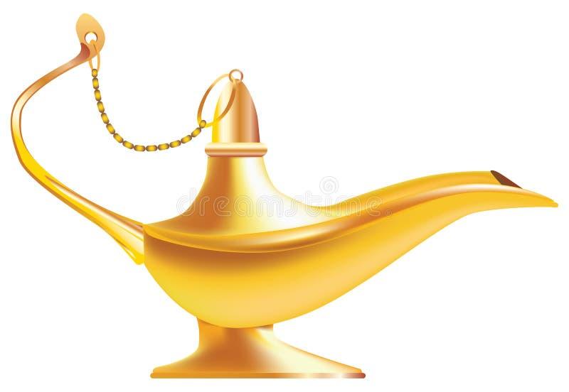 East oil lamp. Oil lamp for lighting from the east vector illustration