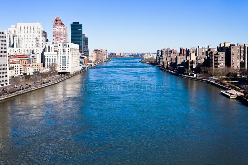 East River en New York City foto de archivo libre de regalías