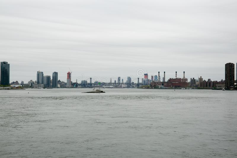 East River side stock photography