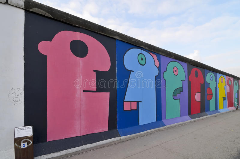 East side gallery, berlin royalty free stock images