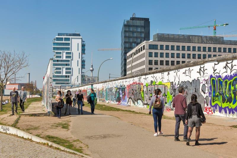 East Side Gallery in Berlin, Germany royalty free stock photo