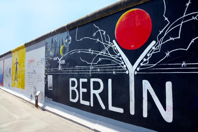 East Side Gallery, Berlin graffiti royalty free stock photos