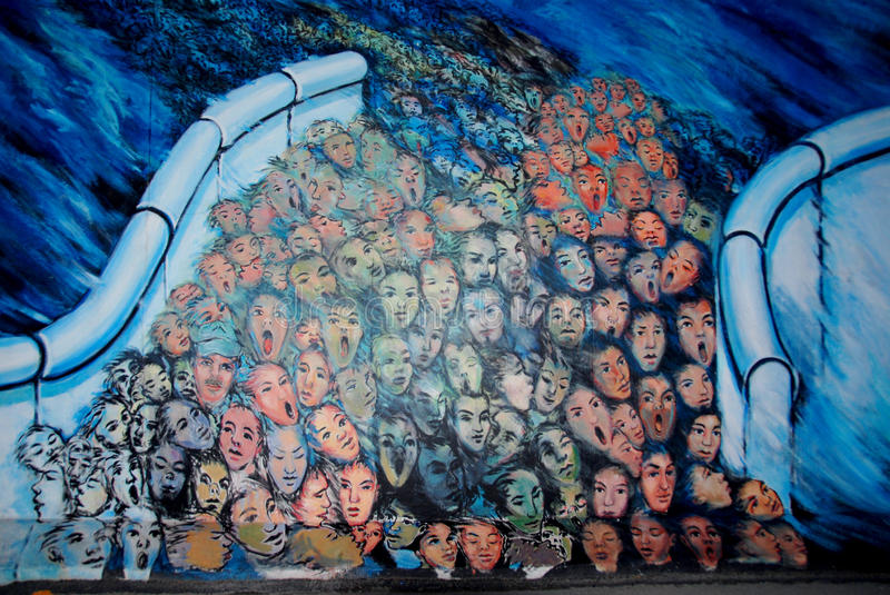 The East Side Gallery royalty free stock images