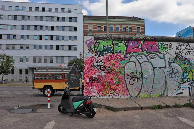East Side Gallery in Berlin royalty free stock photography