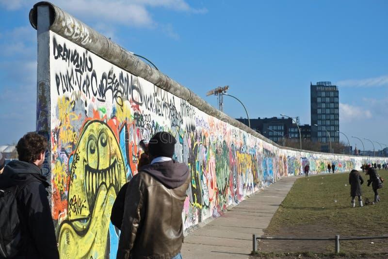 East Side Gallery in Berlin royalty free stock image