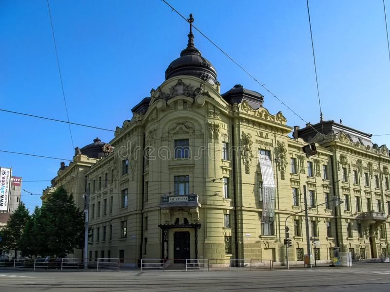 East Slovak Museum in Kosice is one of oldest Slovak museums stock photography