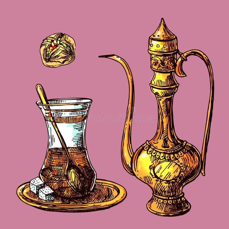 East tea illustration vector illustration