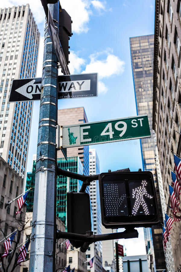 East 49th Street Editorial Image