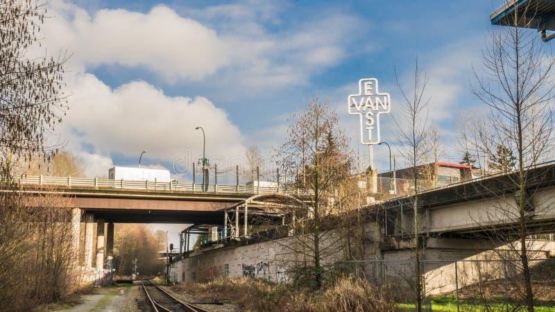 East van Cross et VCC station de Clark Dr photo libre de droits