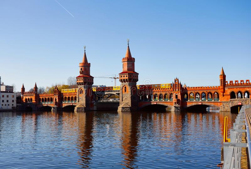 East west bridge in Berlin royalty free stock photography