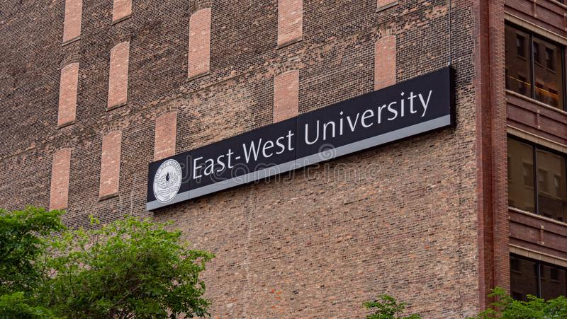 East-West University in Chicago - CHICAGO, USA - JUNE 11, 2019 stock photography
