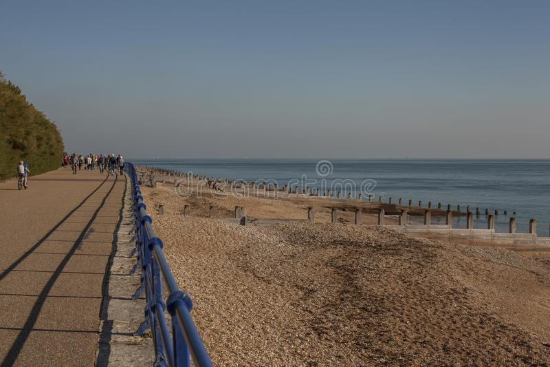 Eastbourne, Anglia - plaża i morze zdjęcie stock