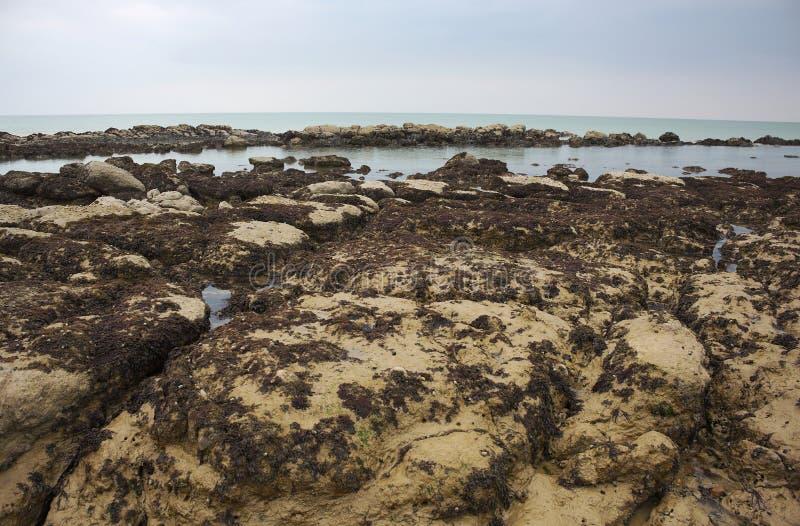 Eastbourne - costa rochosa - II - imagem de stock royalty free