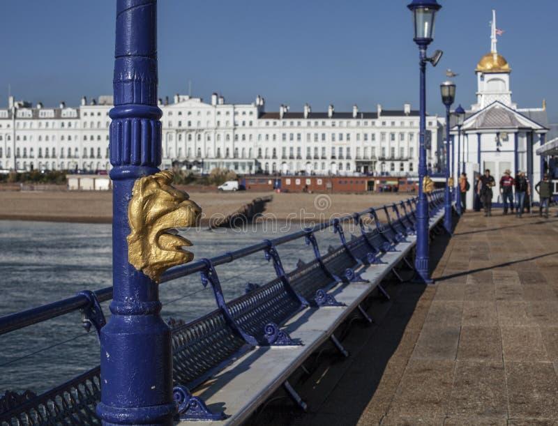 Eastbourne, East Sussex, Engeland - de pijler royalty-vrije stock foto's