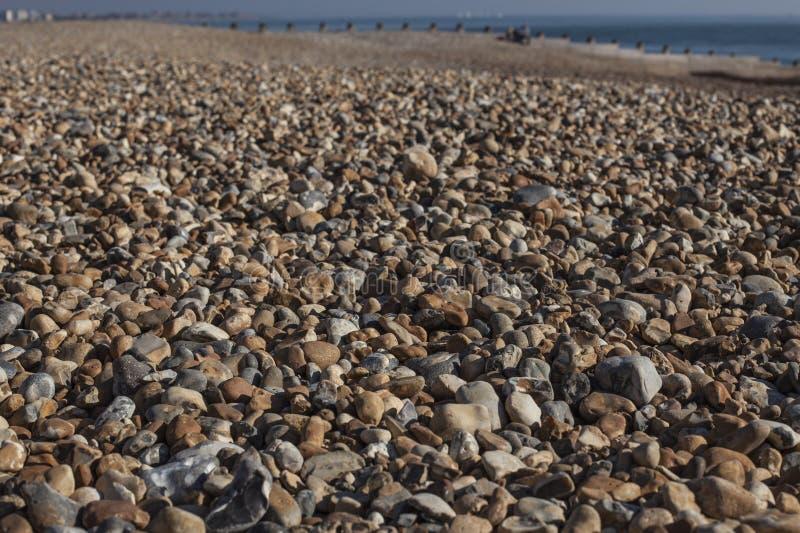 Eastbourne, East Sussex - otoczaki na plaży; zbliżenie zdjęcie royalty free