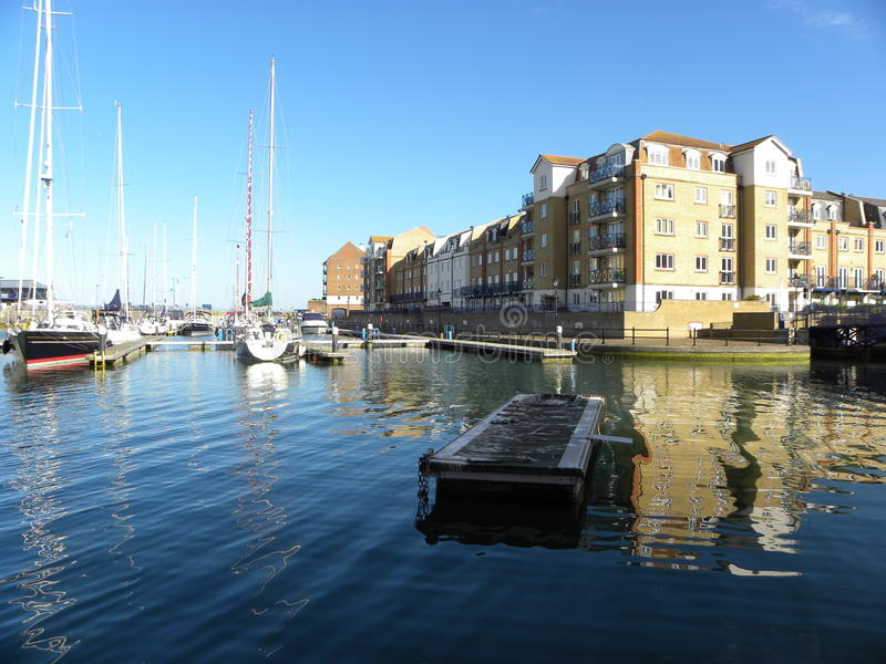 Eastbourne Harbour stock photos