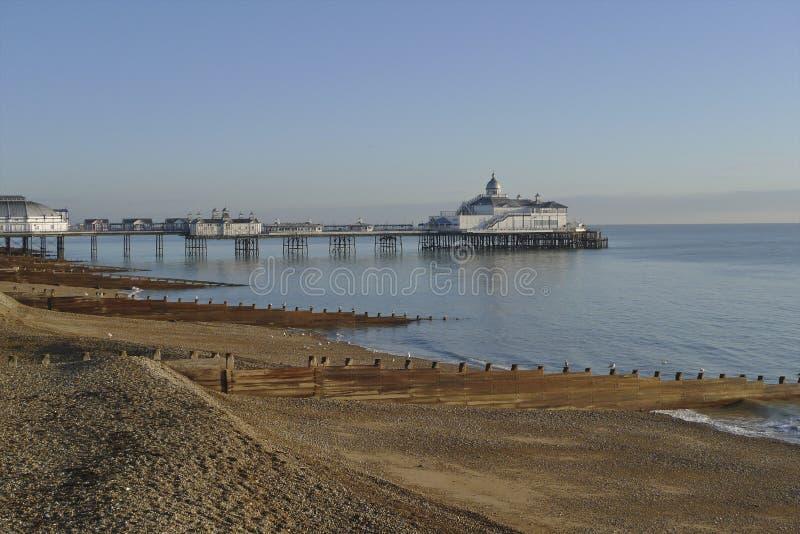 eastbourne nadbrzeża zima zdjęcia stock