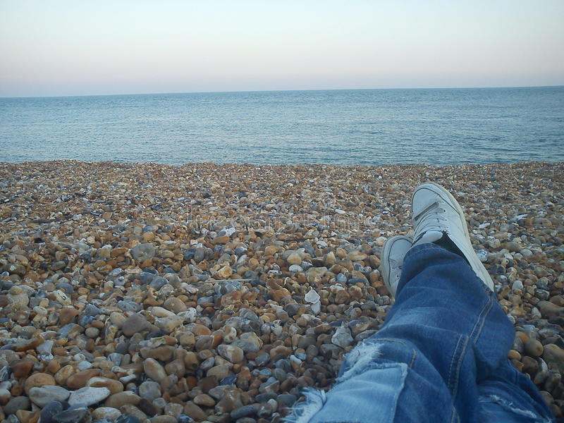 Eastbourne Pebble Beach royalty free stock photo