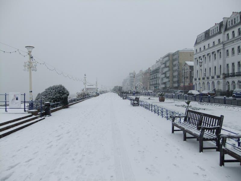 Eastbourne Snow royalty free stock photos