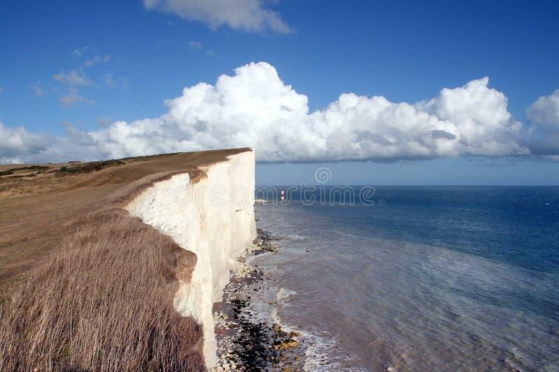 Eastbourne, Sussex, pista con playas foto de archivo