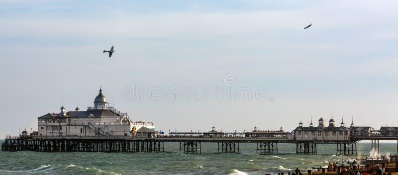 EASTBOURNE, SUSSEX/UK DEL ESTE - 11 DE AGOSTO: Duelo sobre el embarcadero fotografía de archivo libre de regalías