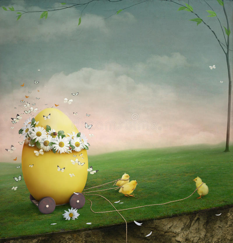 easter ägg stock illustrationer