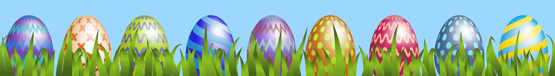 easter ägggräs stock illustrationer