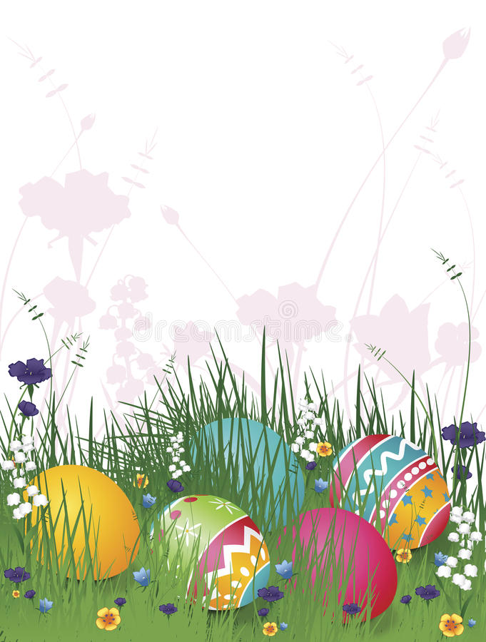 easter ägggräs vektor illustrationer