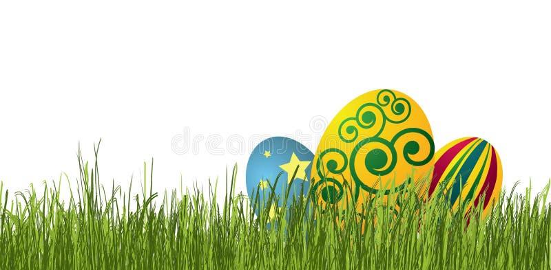easter ägggräs royaltyfri illustrationer