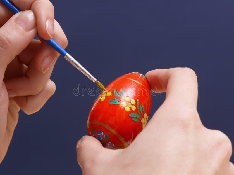 easter äggmålning royaltyfria bilder