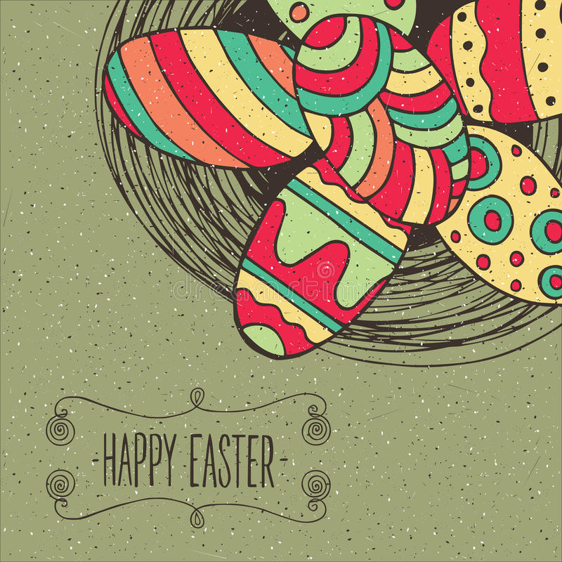 easter äggrede stock illustrationer