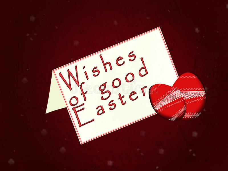 Easter. Vectorial image of a ticket of wishes of a good Easter stock illustration