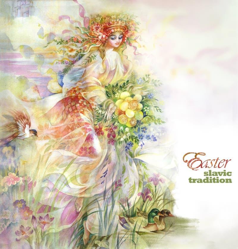 Easter ilustração royalty free