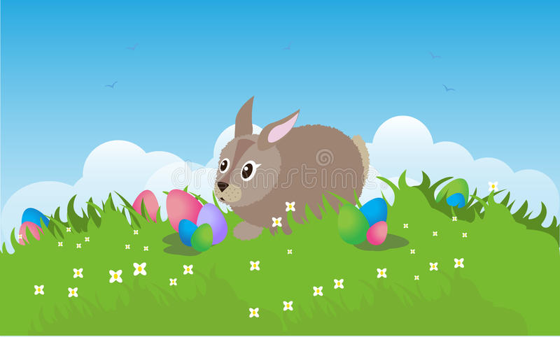 Download Easter stock vector. Image of holiday, birds, eggs, grass - 23644521