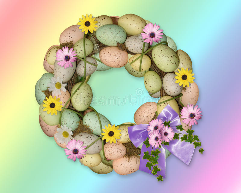 Easter Eggs Wreath stock photography