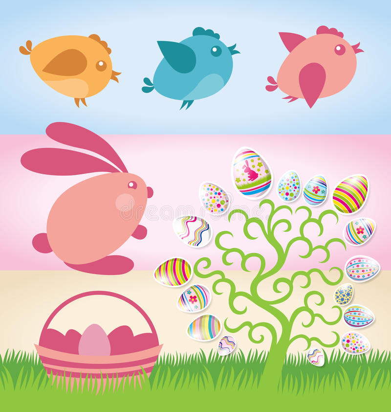 Easter-2015 иллюстрация вектора