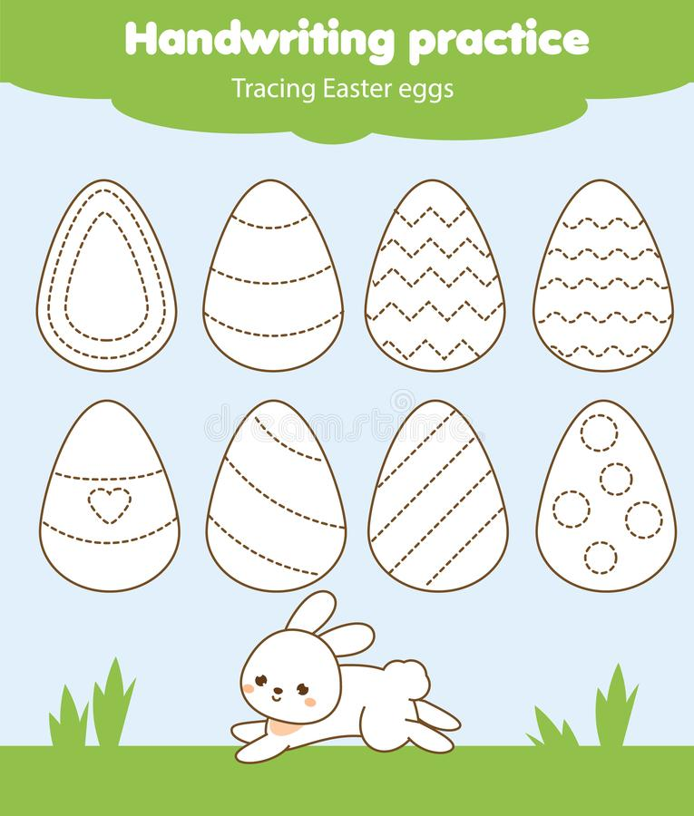 Easter Activity. Tracing Lines For Toddlers. Handwriting Practice ...
