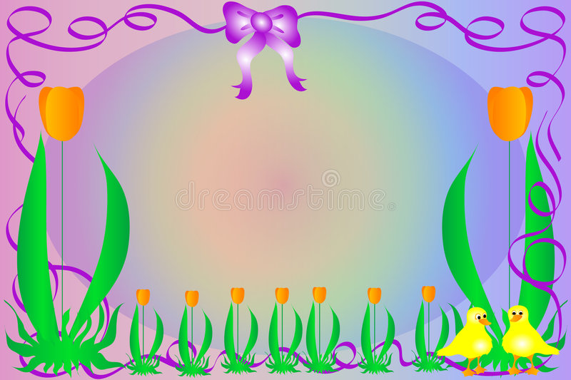 Download Easter Background stock illustration. Image of tulip, swirly - 1410430