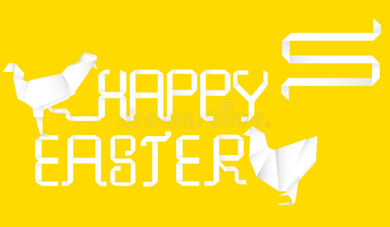 Download Easter background stock photo. Image of origami, isolated - 23948262
