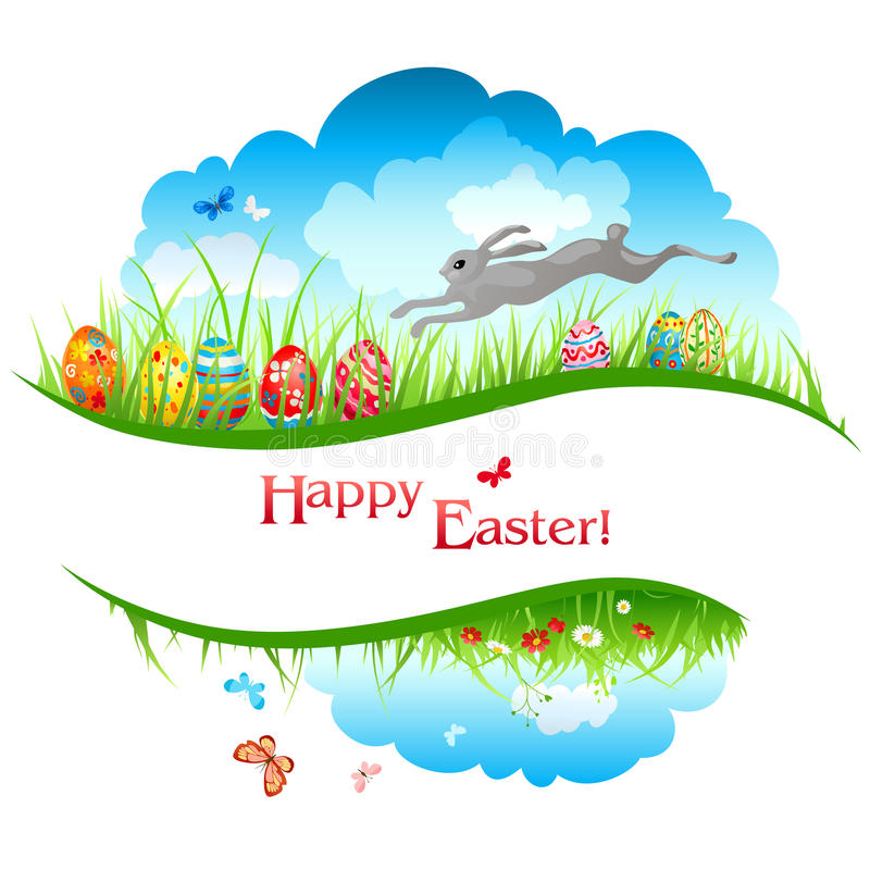 Download Easter background stock vector. Image of butterfly, religion - 25290609