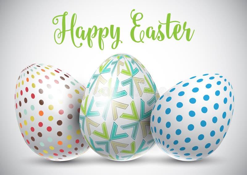 Easter egg background vector illustration