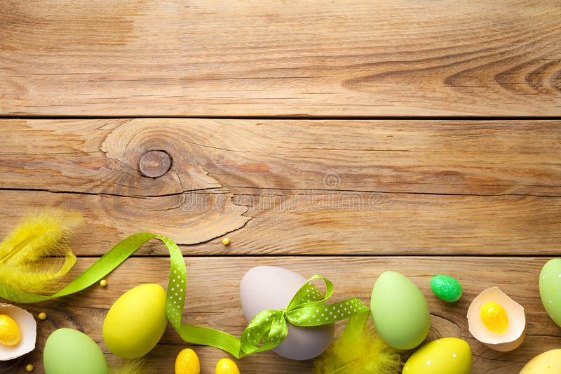 Easter Background with Easter Eggs stock image
