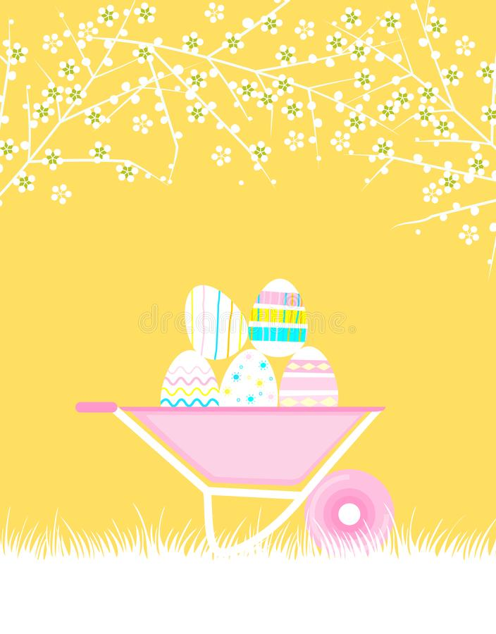 Seamless pattern with Easter background. Easter eggs. Festive set. Vector. royalty free illustration