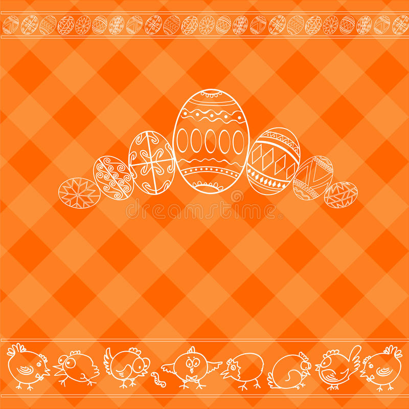 Easter background egg banner royalty free illustration