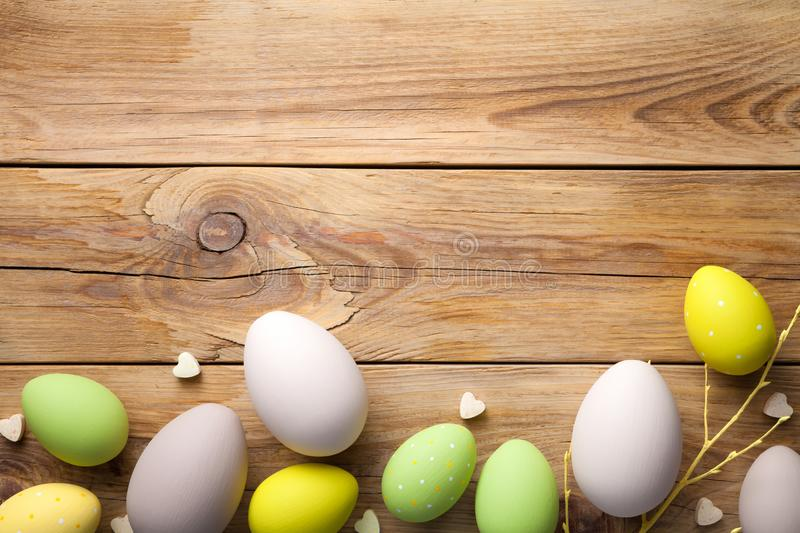 Easter Background with Easter Eggs stock photo