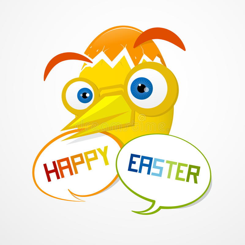 Easter Background. Funny Abstract Egg. royalty free illustration