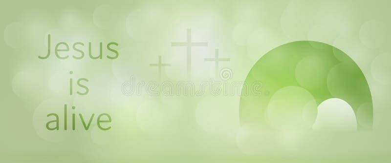 Easter background - Jesus is alive stock illustration