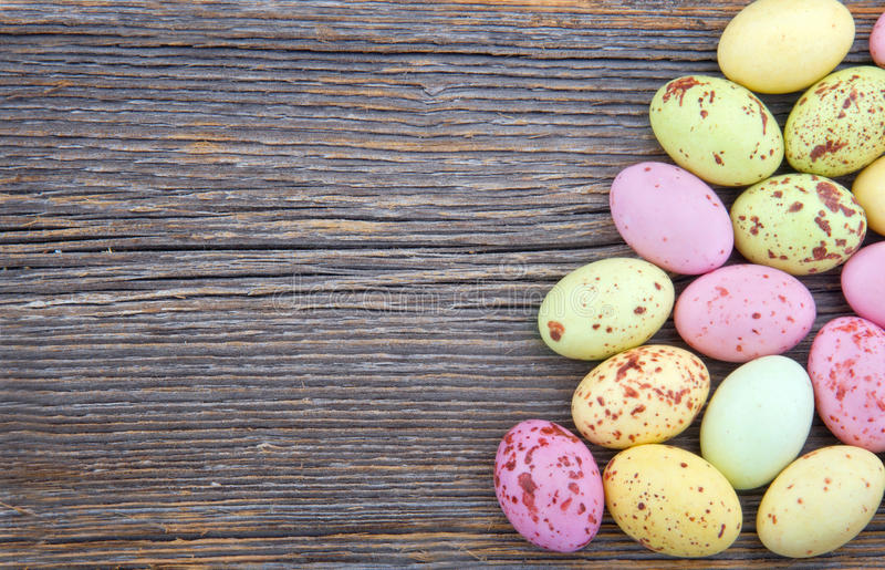 Easter Background Small Spotted Easter Eggs Stock Image