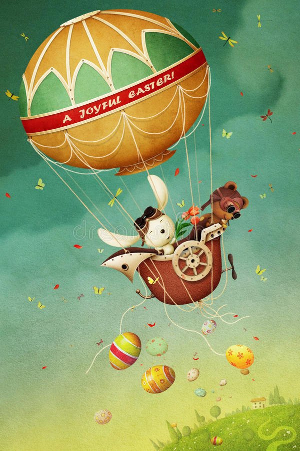 Easter Balloon royalty free illustration